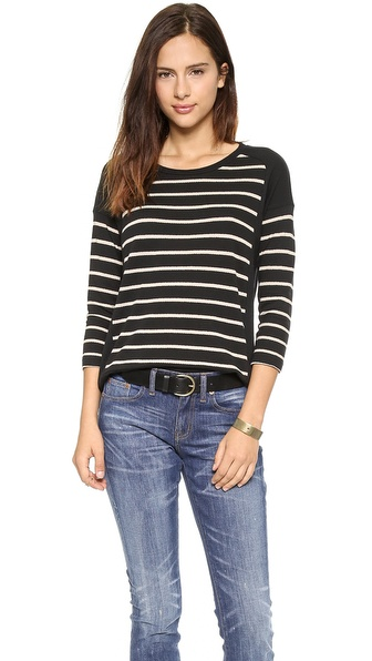 Madewell Stripe Block Long Sleeve Top