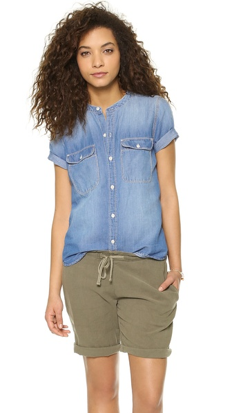 Madewell Short Sleeve Chambray Shirt - True Indigo at Shopbop / East Dane