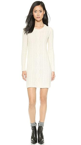 Kupi Madewell haljinu online i raspordaja za kupiti Madewell Elin Cable Sweater Dress Antique Cream online