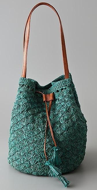 Mar Y Sol Solana Drawstring Raffia Bag