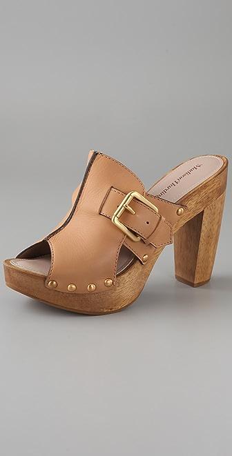 Madison Harding Ripple Buckle Clog Sandals