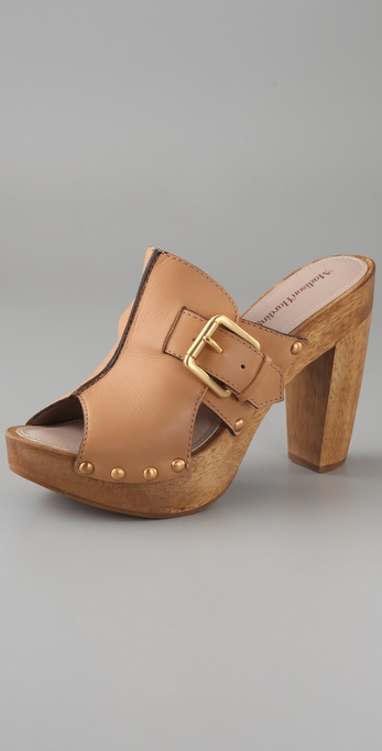 Madison Harding Ripple Buckle Clog Sandals