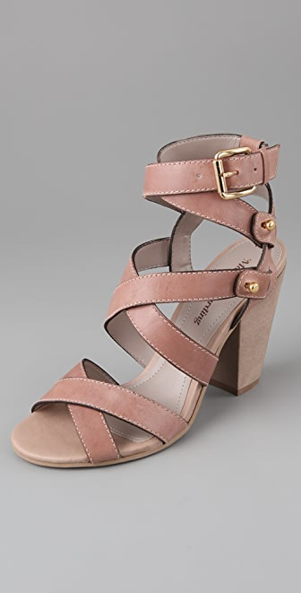Madison Harding Crisscross High Heel Sandals
