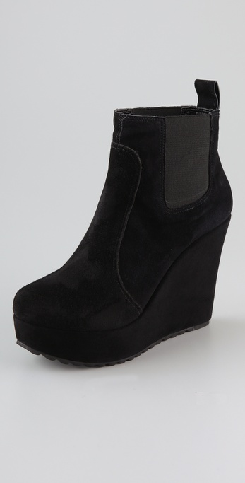 Madison Harding Rita Suede Wedge Booties