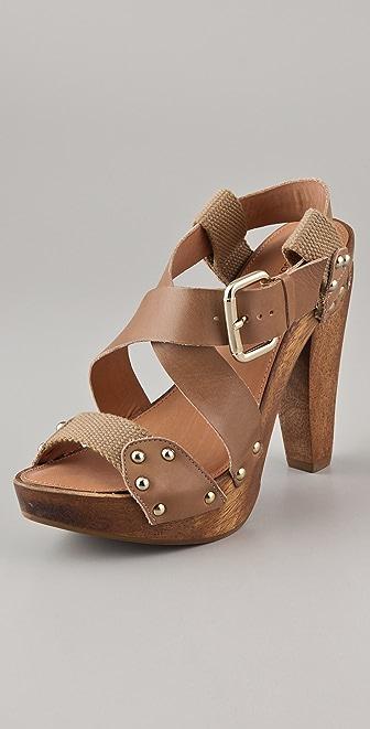 Madison Harding Norma Wood Platform Sandals