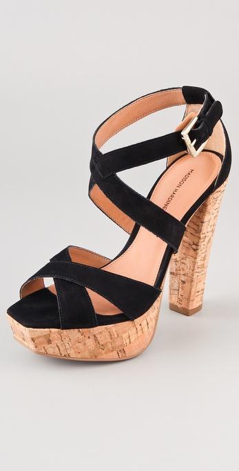 Madison Harding Jackson Suede Platform Sandals