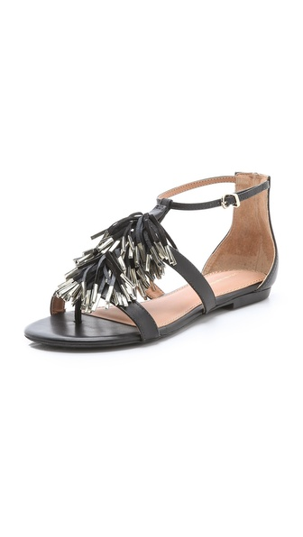 Madison Harding Sabrina Flat Fringe Sandals