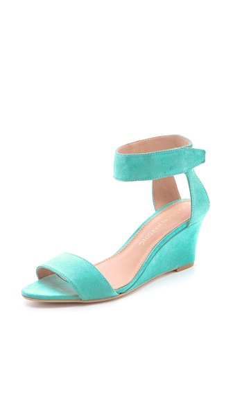 Madison Harding Shavonne Low Wedge Sandals