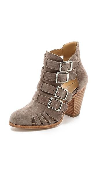 Madison Harding Levon Gladiator Heel Booties