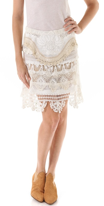 Magda Berliner Lace Ribbon Skirt