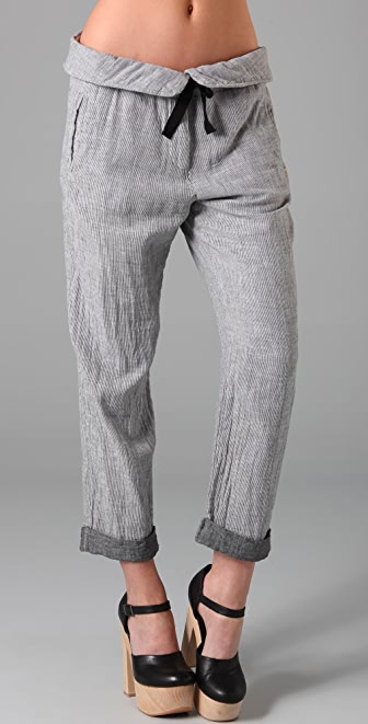 Maison Scotch Beach Pants with Folded Waistband