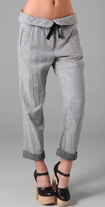 Maison Scotch Beach Pants with Folded Waistband