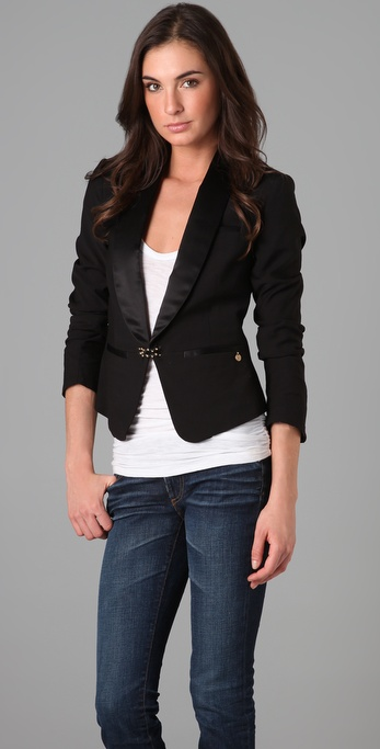 Maison Scotch Tuxedo Blazer with Bracelet Closure