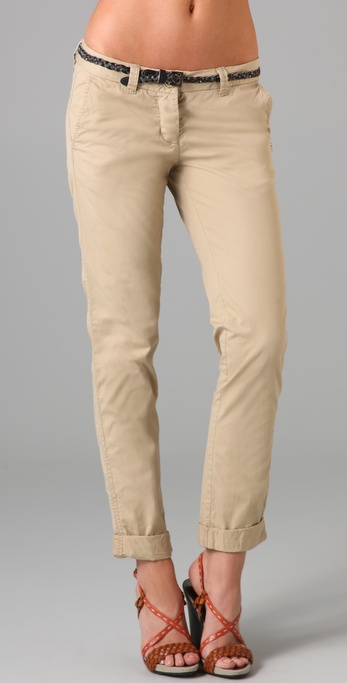 Maison Scotch Belted Chino Pants