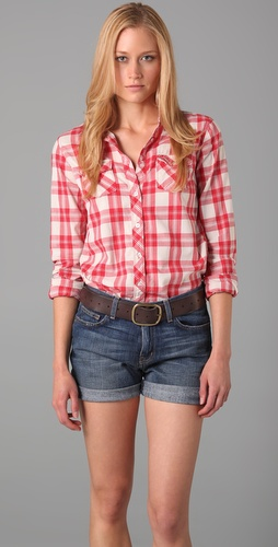 Maison Scotch Summerweight Plaid Shirt