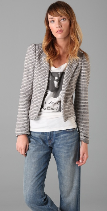 Maison Scotch Fashion Tweed Jacket