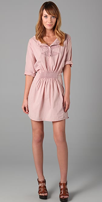 Maison Scotch Embroidered Short Sleeve Dress