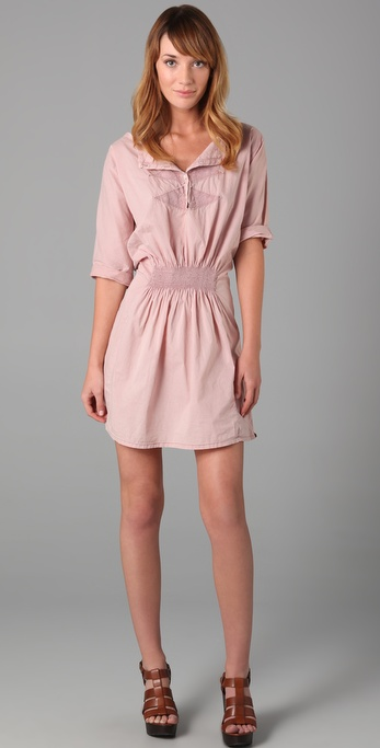 Maison Scotch Embroidered Short Sleeve Dress
