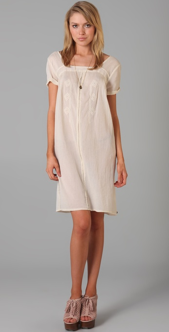Maison Scotch Vintage Inspired Embroidered Dress