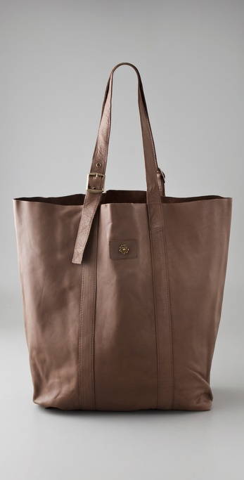 Maison Scotch Washed Leather Shopper