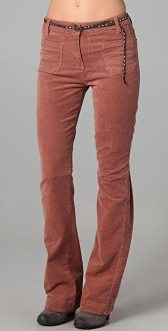 Maison Scotch Belted Corduroy Pants