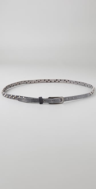 Maison Scotch Thin Studded Belt