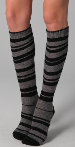 Maison Scotch Striped Knee High Socks