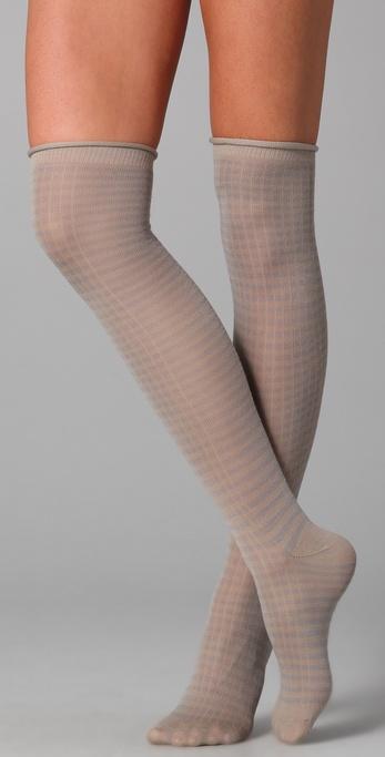Maison Scotch Striped Knee High Socks