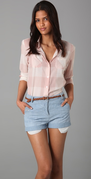 Maison Scotch Boyfriend Check Shirt