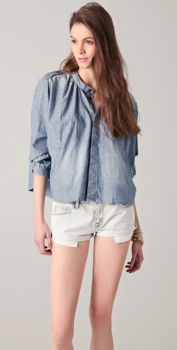 Maison Scotch Cropped Denim Shirt