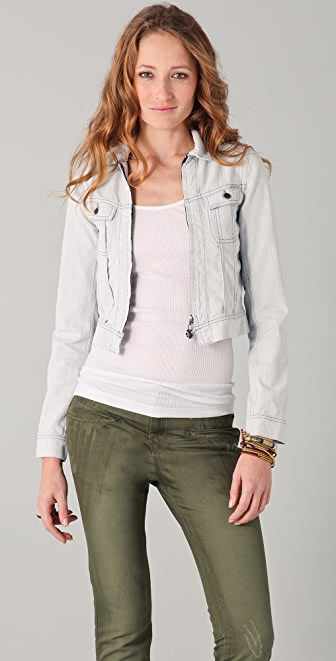 Maison Scotch The Great White Denim Jacket