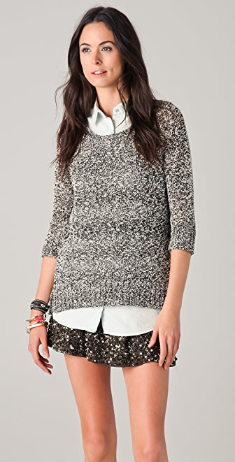 Maison Scotch Boxy Fit Crew Neck Sweater