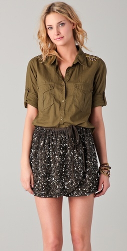 Maison Scotch Soft Military Shirt