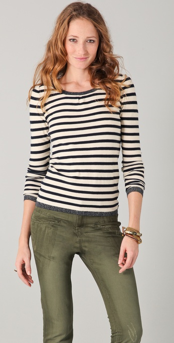 Maison Scotch Detailed Long Sleeve Tee