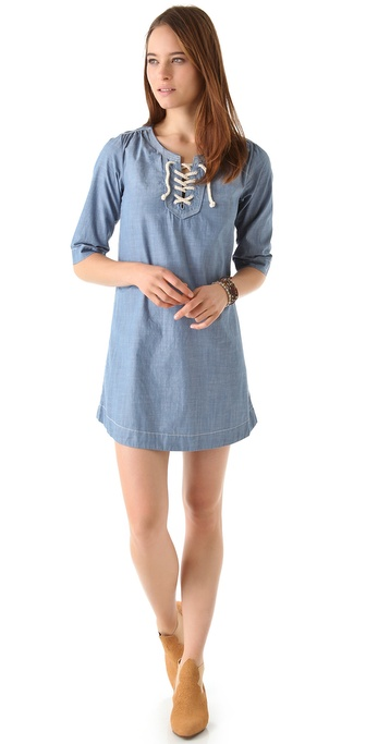 Maison Scotch Chambray Sailor Dress