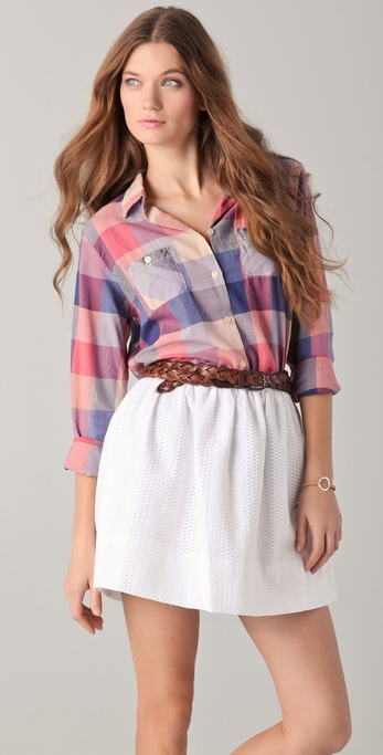 Maison Scotch Checkered Shirt