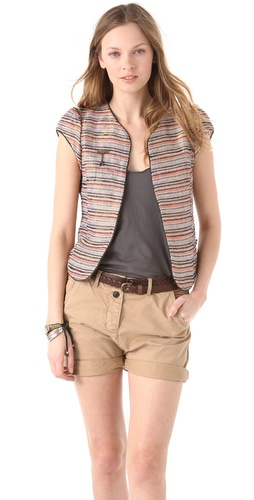 Maison Scotch Cap Sleeve Jacket