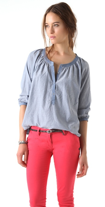 Maison Scotch Chambray Rodeo Top