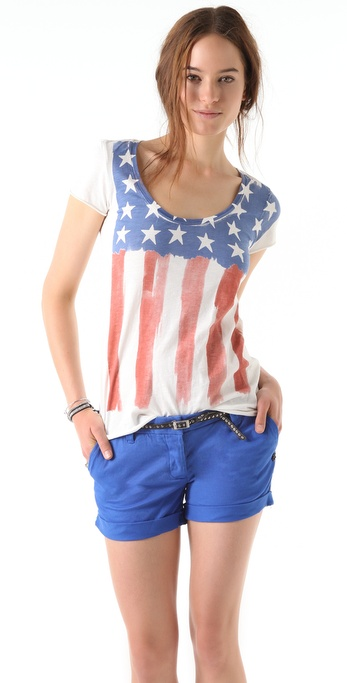 Maison Scotch Flag Tee