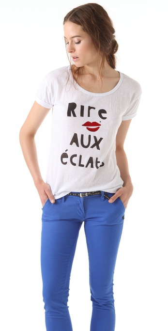 Maison Scotch Printed Boxy Tee