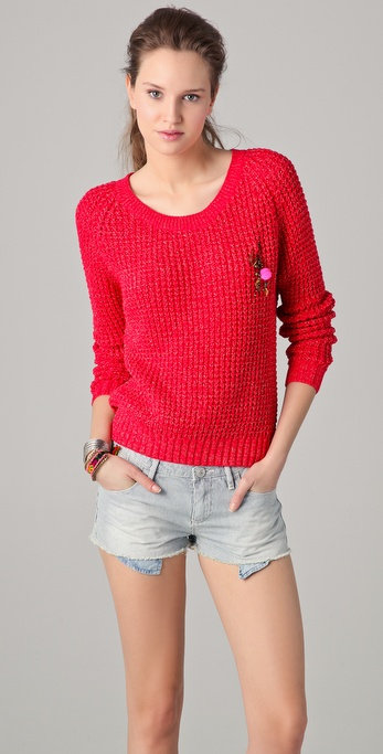 Maison Scotch Long Sleeve Summer Sweater