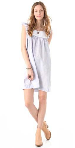 Maison Scotch Summer Crepe & Eyelet Dress