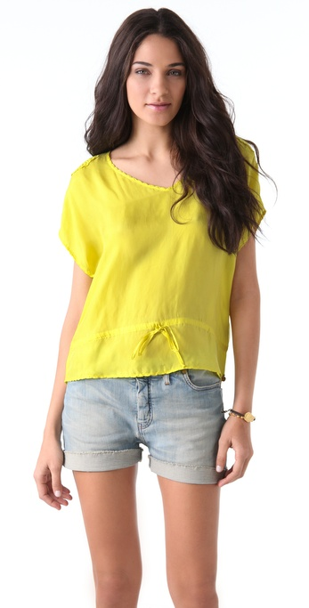 Maison Scotch Fancy Drawstring Blouse