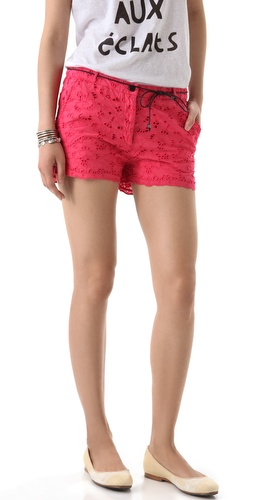 Maison Scotch Broderie Anglaise Shorts