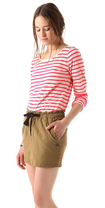 Maison Scotch Neon Breton Stripe Top