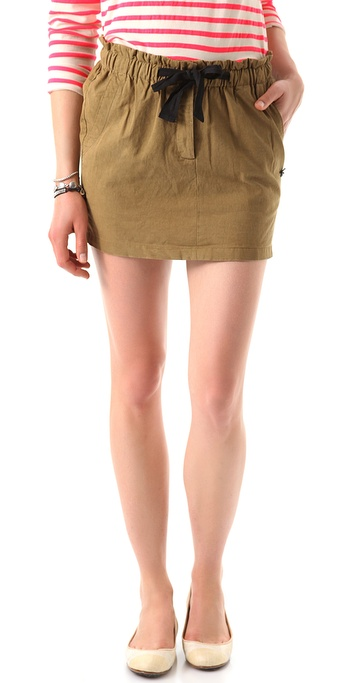 Maison Scotch Draped Drawstring Skirt