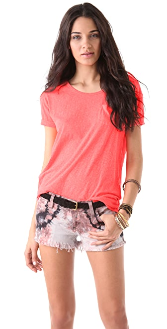 Maison Scotch Heathered Pocket Tee