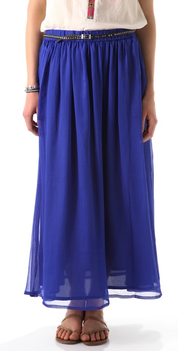 Maison Scotch Chiffon Maxi Skirt