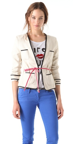 Maison Scotch Belted Zip Blazer