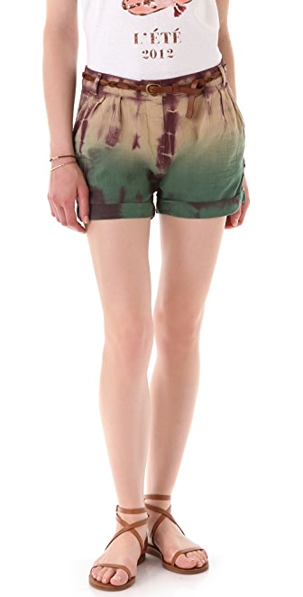 Maison Scotch Belted Beach Shorts